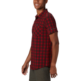 Columbia Triple Canyon Blouse Korte Mouwen Heren, mountain red mini tonal plaid